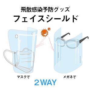 フェイスシールド 【飛沫感染予防グッズ】(1枚)